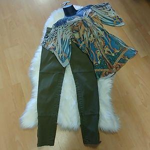Michael Kors Skinny Olive Pants
